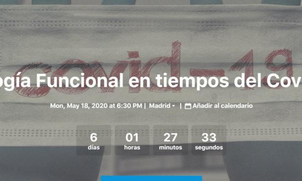 """Webinar AEU """"Urología funcional en tiempos del COVID-19"""", 18 Mayo 2020, 18.30h"""
